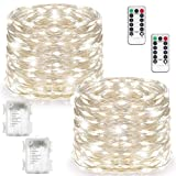 Amazon Price History for:2 Set Fairy Lights Battery Operated Waterproof with Remote Control(Timer), Warmtaste 8 Modes 100 LED 33ft String Lights Copper Wire Firefly Lights for Bedroom Wedding Festival Decor