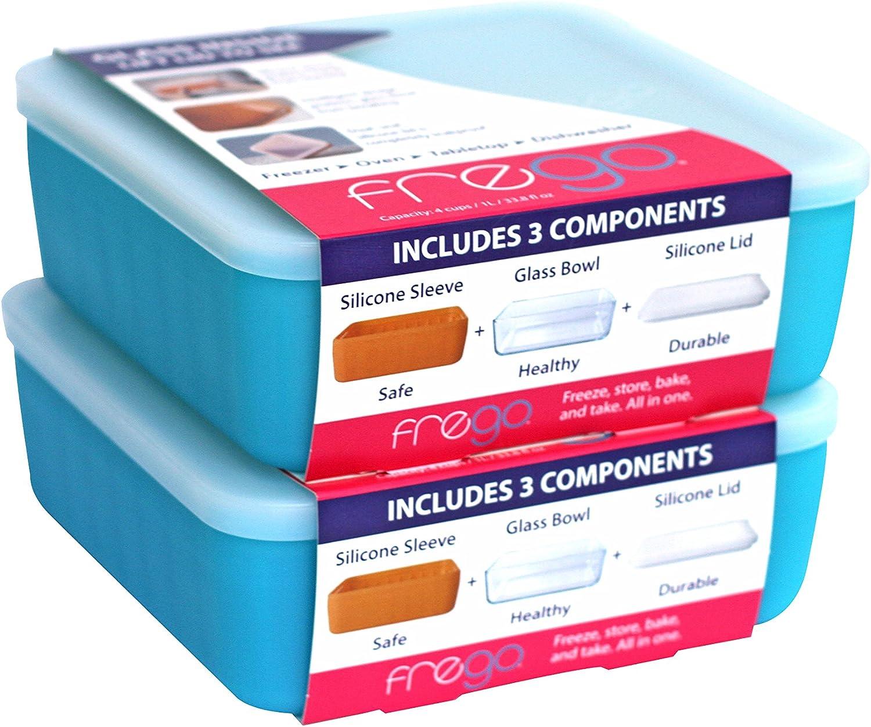 Frego Glass Food Storage, Blue