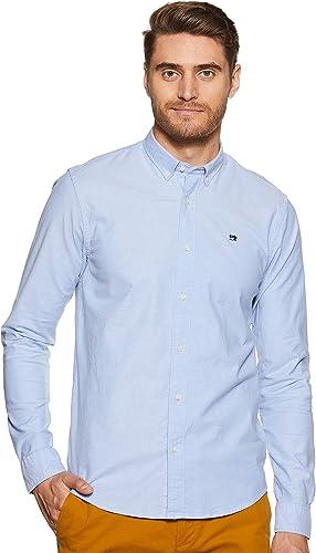 Scotch & Soda Nos Shirt with Contrast Details Camisa para Hombre: Amazon.es: Ropa y accesorios