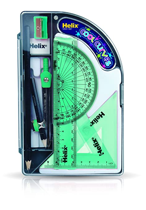 HELIX OXFORD SET OF MATHEMATICAL INSTRUMENTS ORACLE AND COOL CURVES MATH SETS