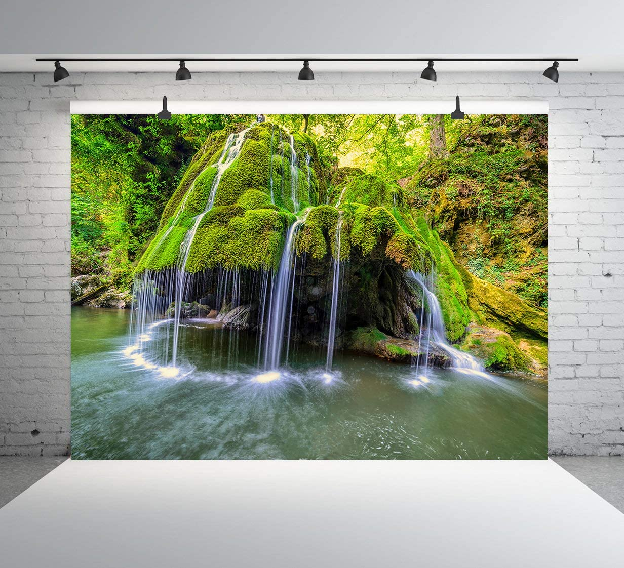 Amazon Com Bigar Waterfalls Backdrop Nature Landscape
