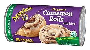 Annie's, RFG Organic, Cinnamon Rolls, Ready To Bake Cinnamon Rolls With Icing, 17.5 Oz (5 Count)