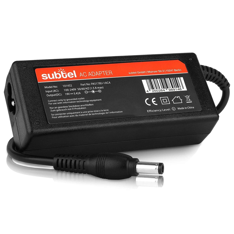 subtel® Fuente de alimentación (19V,65W) Compatible con ...