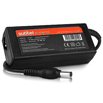 subtel® Fuente de alimentación (19V,65W) Compatible con Toshiba Portege/Satellite/Tecra/Kira/NB (3m) Cable de Corriente Cargador Ordenador portatil: ...