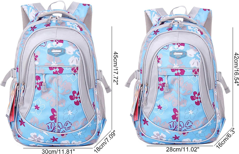 Rose,Small JiaYou Kid Child Girl Flower Printed Waterproof Backpack School Bag