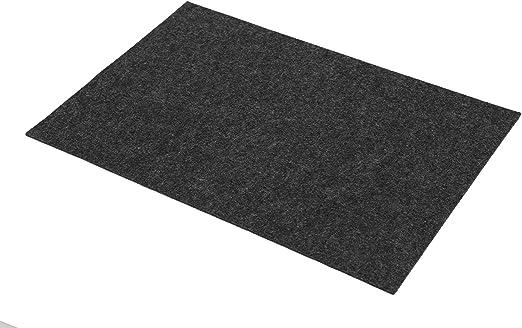 Yve decoration Platzsets aus Filz (Farbe wählbar) 2 Stück Set, eckig 30x45 cm Tischset (Black)