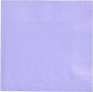Lavender 3-Ply Beverage Napkins | Pack of 50 | Party Supply