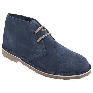 0f9da6ab4e887 Roamers Womens Ladies Real Suede Unlined Desert Boots (5 US) (Denim Blue