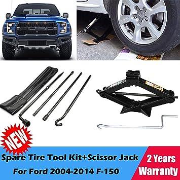 Para 2004 - 2014 Ford F-150 rueda de repuesto Kit de herramientas y 2 - Gato de tijera, 2 años de garantía, nos Stock: Amazon.es: Coche y moto