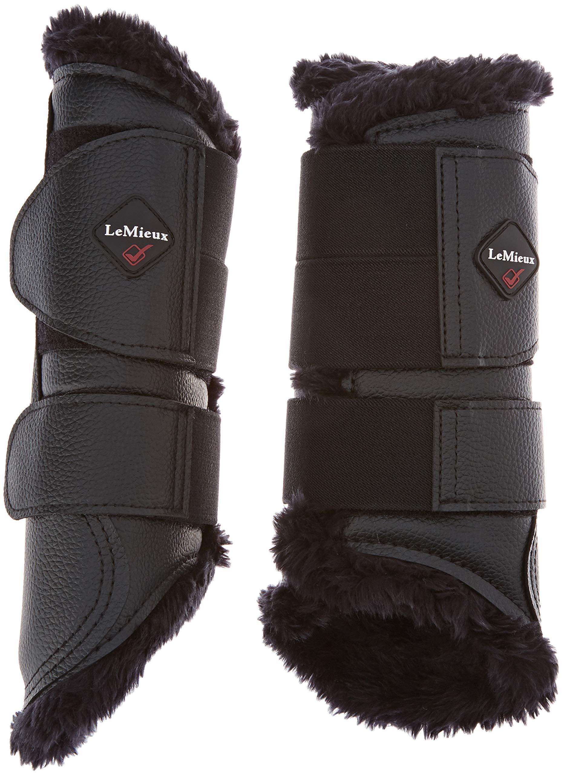 LeMieux Fleece Brushing Boot Large Black by LeMieux
