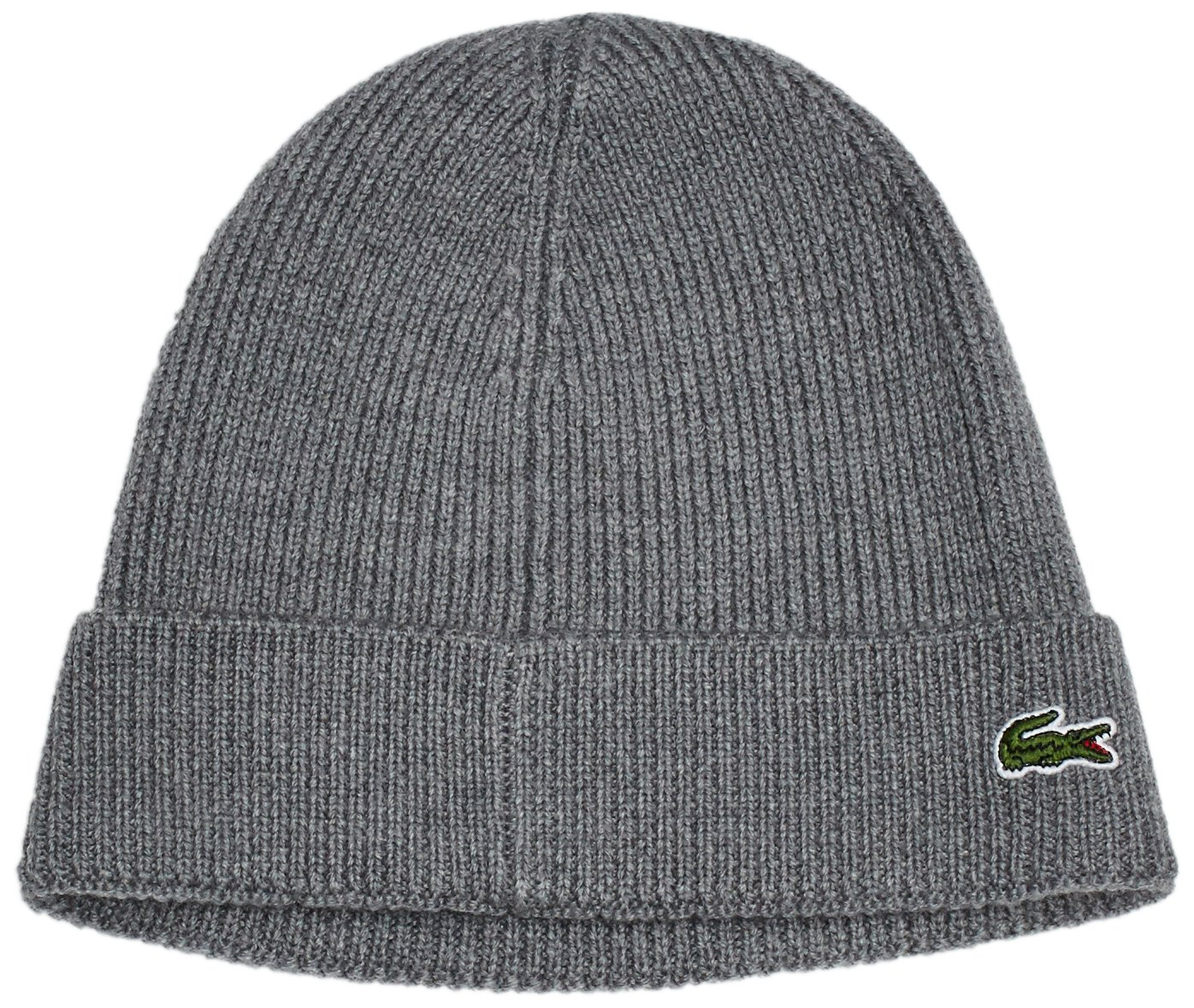 88e63abb0fd Lacoste Unisex RB3502 Ribbed Knitted Wool Beanie Hat - Stone Chine   Amazon.com.au  Fashion