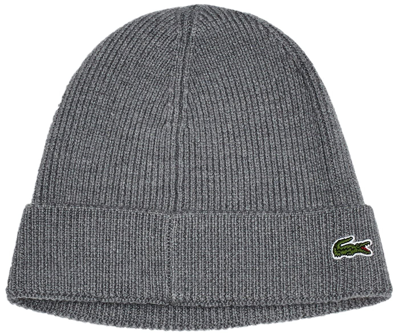 Lacoste Men s Ribbed Beanie with Flap Accessories  Amazon.co.uk  Clothing 7cddccdf41