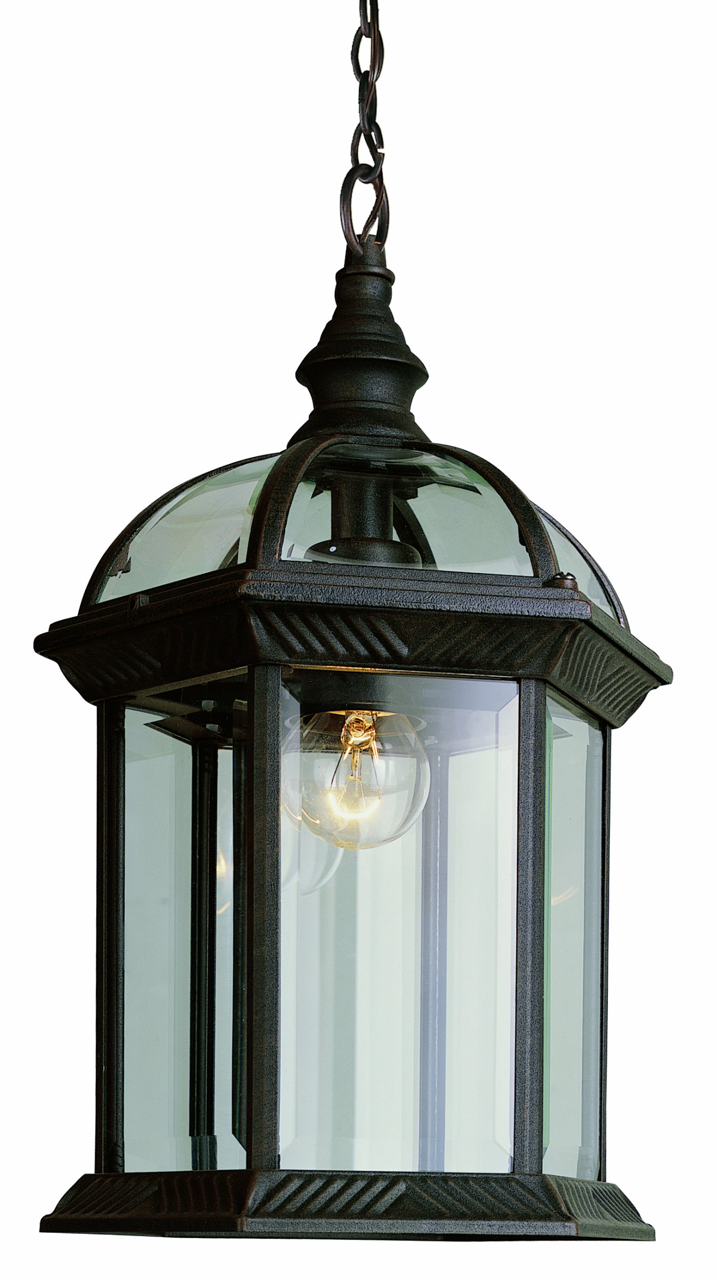 Trans Globe Lighting 4183 RT Outdoor Wentworth 17.5'' Hanging Lantern, Rust