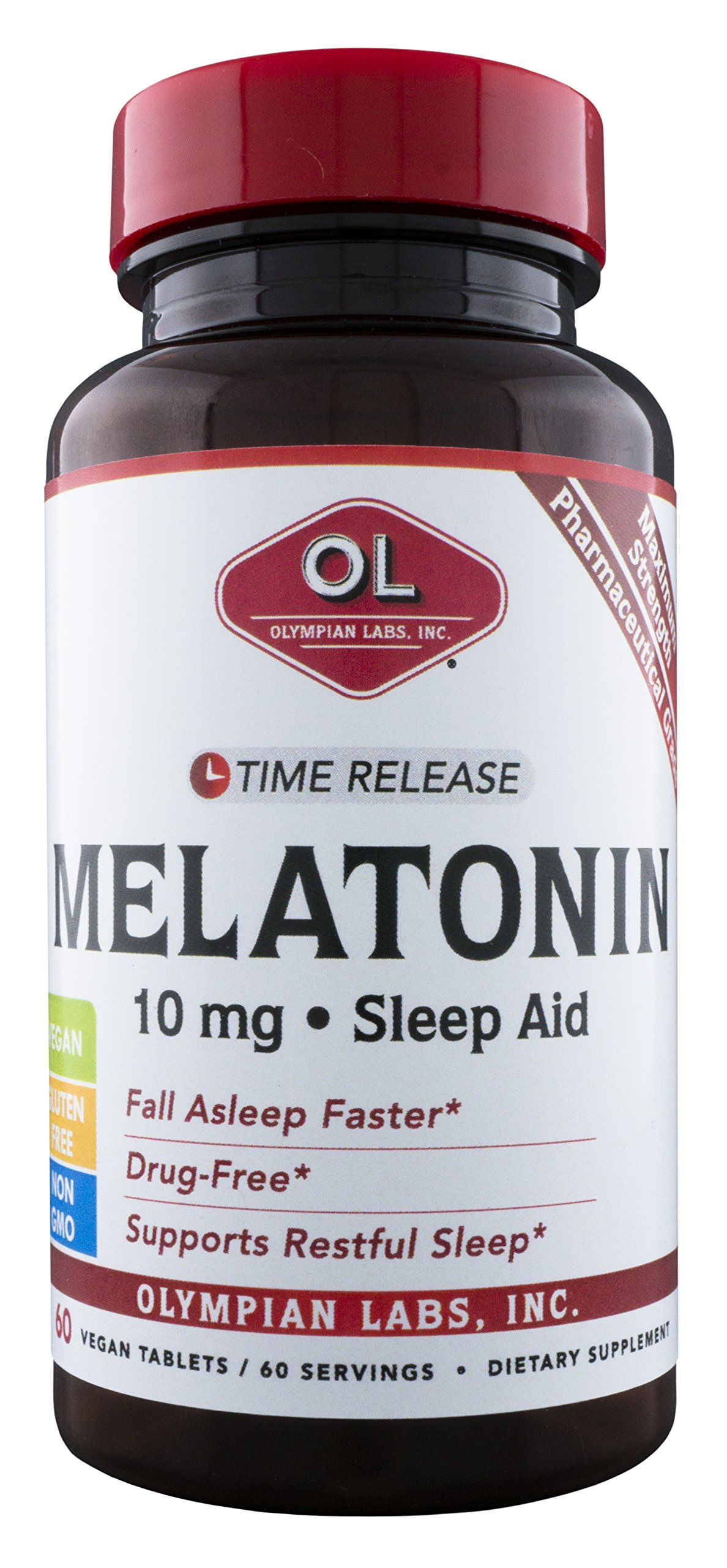 Amazon.com: Olympian Labs Melatonin 10 mg Time Release, 60 Count: Health & Personal Care