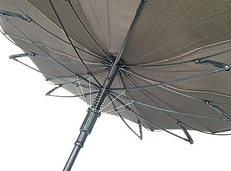 Baleinage en Fibre SMATI Parapluie Canne Anti Vent Design Double Toile Chic Tr/ès Solide Couleur Bleu