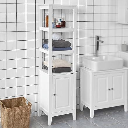 sobuy® mobiletto da bagno di alta, mobile a colonna da bagno ... - Mobili A Colonna Da Bagno