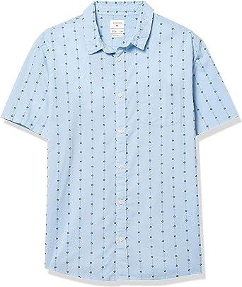 Quiksilver Barbed Shirt Short Sleeve Woven Camisa con Cuello Abotonado para Hombre: Amazon.es: Ropa y accesorios