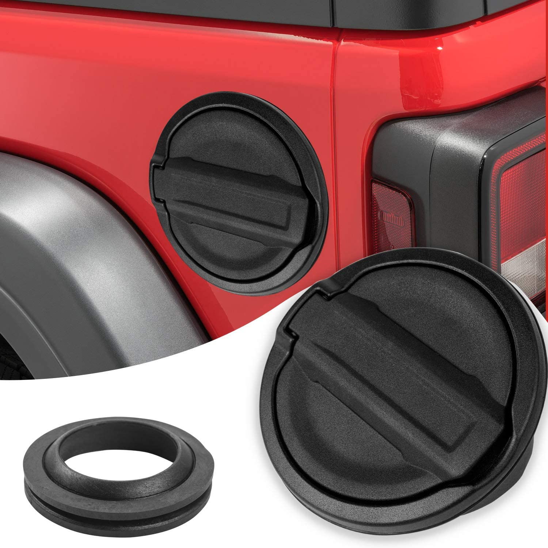 JeCar Fuel Filler Cover Locking Gas Tank Door Aluminum Alloy Gas Cap Cover Exterior Accessories for 2018 2019 2020 Jeep Wrangler JL JLU /& 2020 Jeep Gladiator JT US Flag