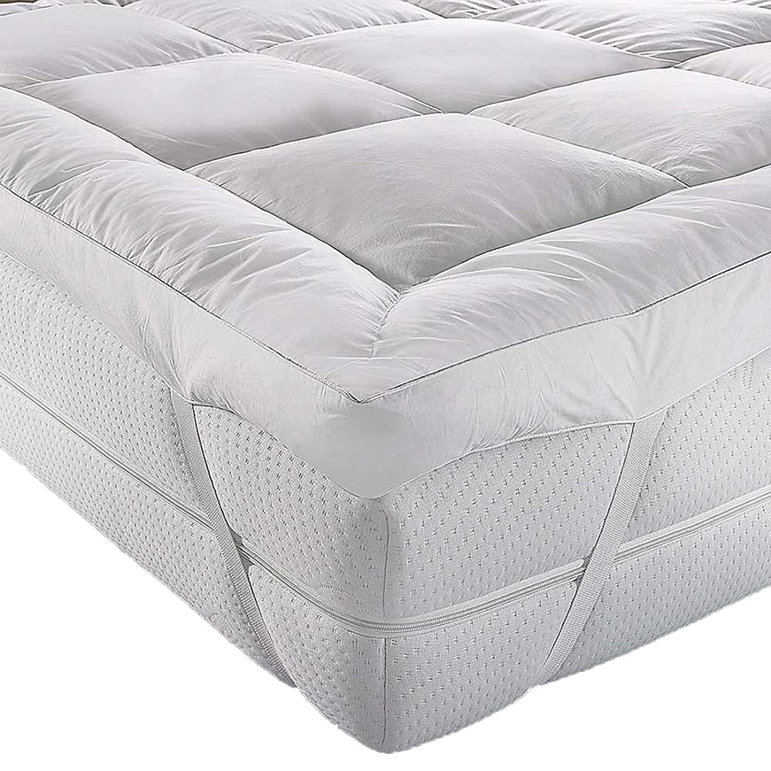 AR'S HOTEL QUALITY(Microlite) MICRO FIBER COT BED MATTRESS TOPPER THICK 5 CM, BOX STITCHED,ANTI ALLERGENIC bedding stuff