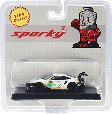 Sparky 911 RSR #91 2nd LMGTE Pro Class 24 Hours of Le Mans (2019) 1/64 Diecast Model Car