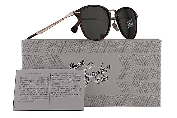 2bd339a68c Persol PO3165S Calligrapher Edition Sunglasses Havana w Green Lens 50mm  2431 PO 3165-S PO3165-S PO 3165S  Amazon.co.uk  Clothing