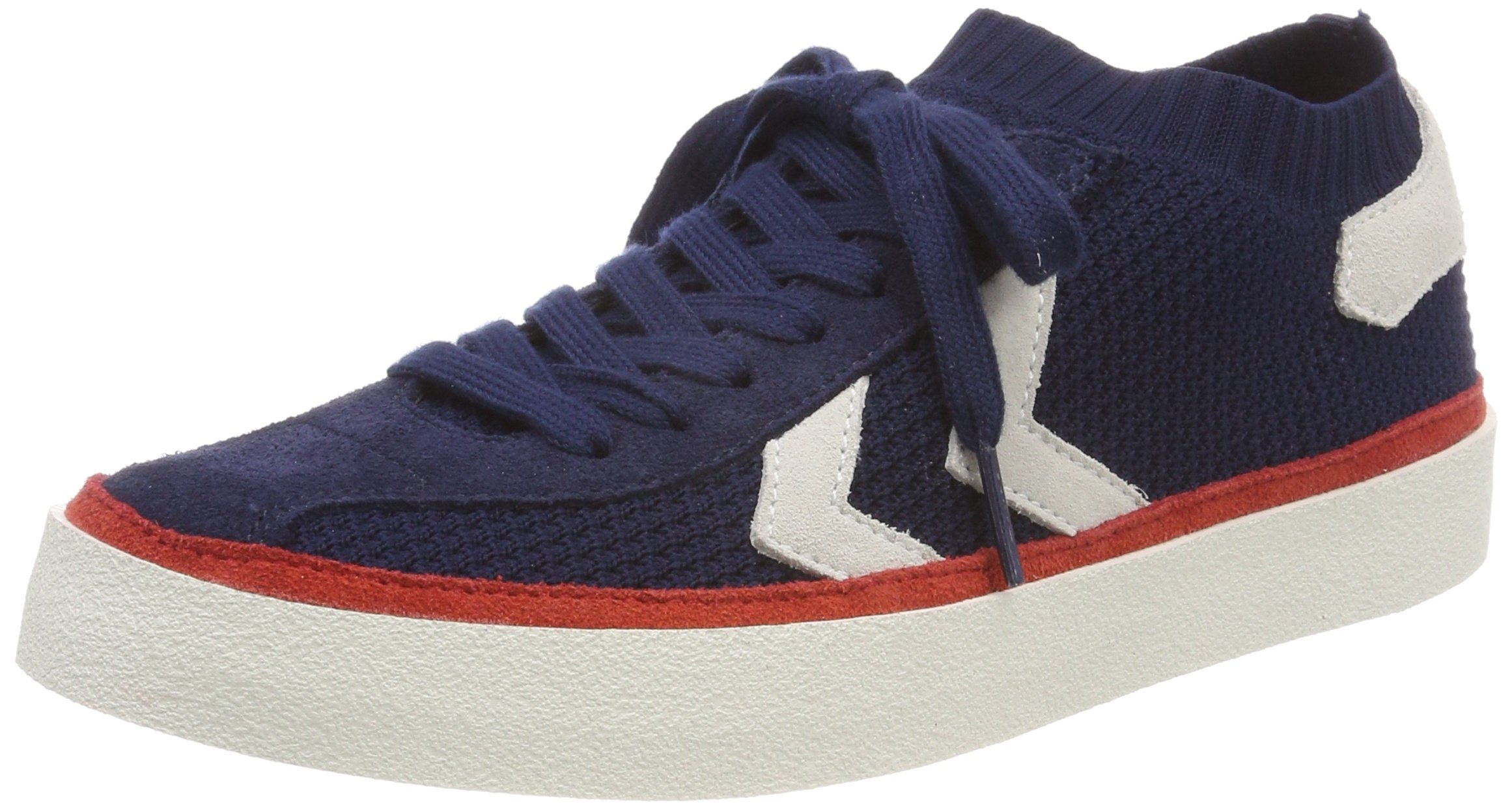 Hummel Unisex Adults' Diamant Knit Trainers, Blue (Peacoat 7666), 6.5 UK