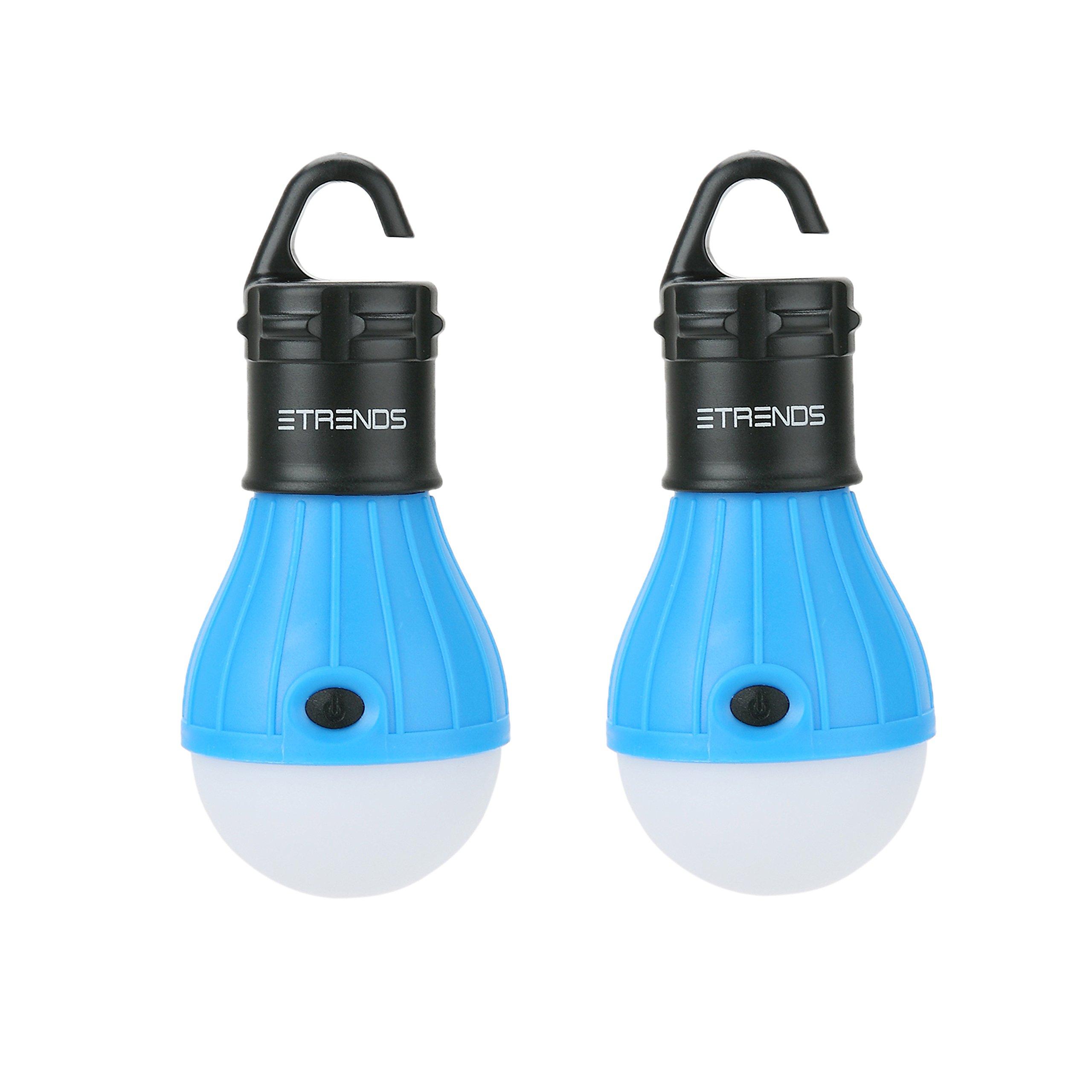 2 Pack E-Trends Portable Led Lantern Light Bulb For Camping Hiking Night Fish.. 14