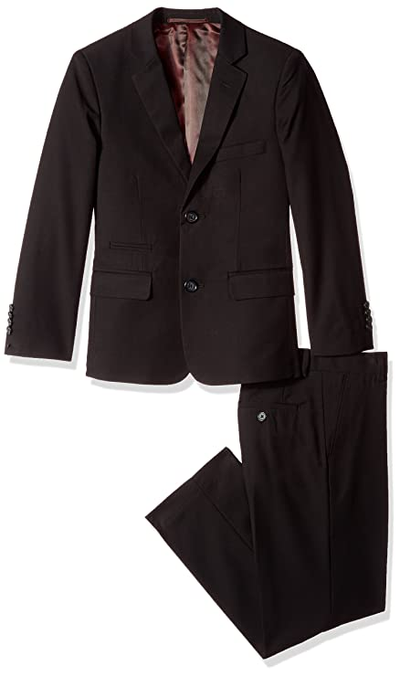 Isaac Mizrahi Boys' Toddler 2Pc Slim Cut Wool Blend Suit, Black, 3