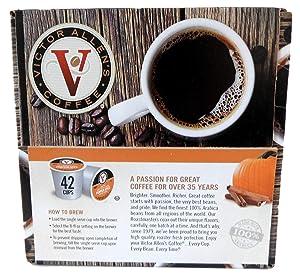 Victor Allen Coffee Single Serve K-Cup, Pumpkin Spice, 42 Count
