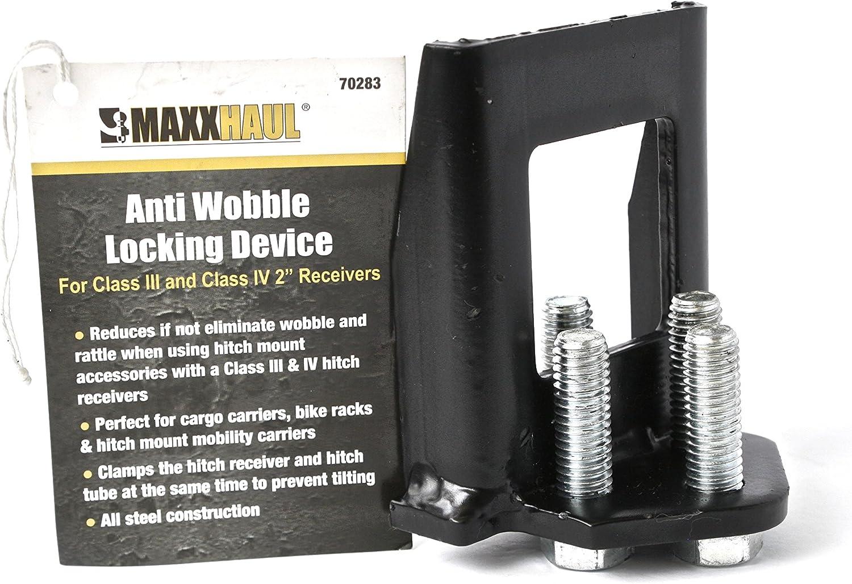 """MaxxHaul 70283 4-Bolt Sturdy Anti-Wobble 2\""""x 2\"""" Hitch Adapter Stabilizer"""