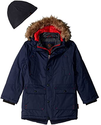 d8aabdc0c Hawke & Co. Boys' Little Parka Vestee and Quilt Lining, Atlantic, ...