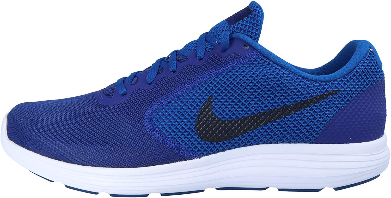 Nike Men's Revolution 3 Running Shoes Deep Royal Blue Obsidian Blue Jay White