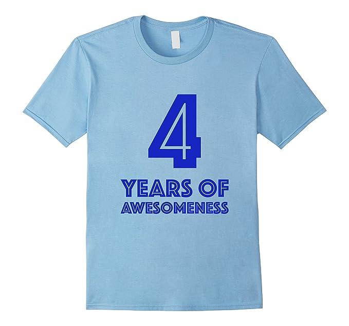 Mens 4th Birthday Shirt Gift Boys Age 4 Four Year Old Boy Tshirt 2XL Baby Blue