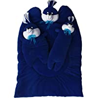 Amardeep and Co Bunny Mattress with Bolsters and Pillow (Navy Blue) - mt-09nb