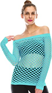 product image for Kurve Stretchy Fishnet Long Sleeve Top, UV Protective Fabric, Rated UPF 50+ (Made with Love in The USA)