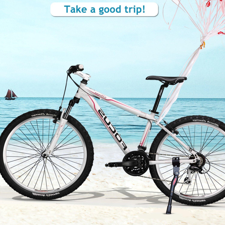 Emooqi Pata de cabra Bicicleta Soporte para Ciclismo de bicicletas para 24 - 29 pulgadas Soporte Bicicletas para Bicicleta Plegable, Bicicleta De Montaña, ...