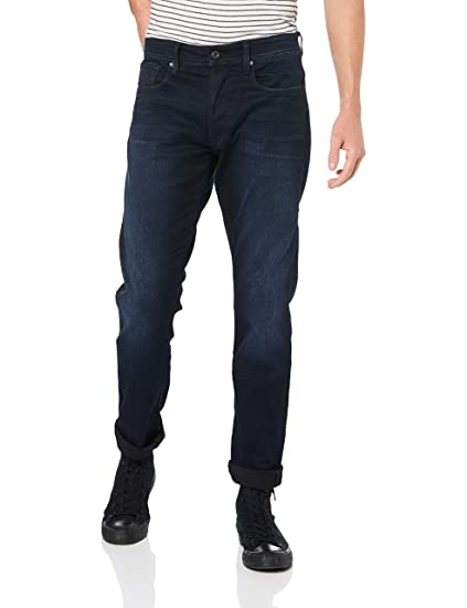 f8e741f0addf4a G-STAR RAW Men's 3301 Straight Tapered Straight Tapered Jeans, Blue (Dk Aged