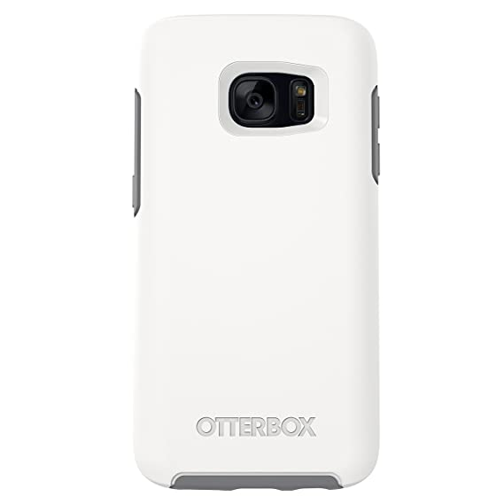finest selection b1d5b d85dc OtterBox Symmetry Series Case for Samsung Galaxy S7 - Retail Packaging -  Glacier (White/Gunmetal Grey)