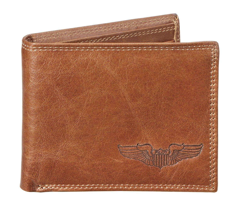 Sporty's Debossed Pilot Wings Genuine Leather Wallet
