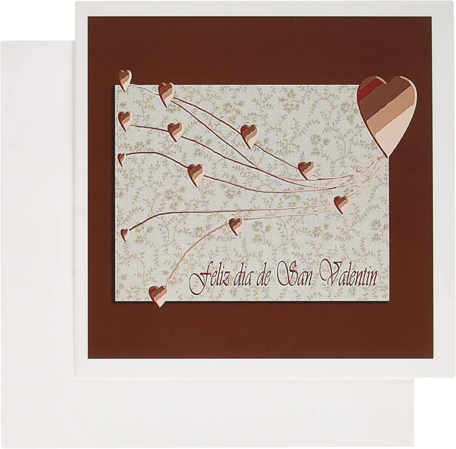 3dRose Feliz Dia de San Valentin, Happy Valintines Day in Spanish, Copper  Hearts - Greeting Cards, 6 x 6 inches, Set of 12 (gc_37053_2):  Amazon.co.uk: Office Products