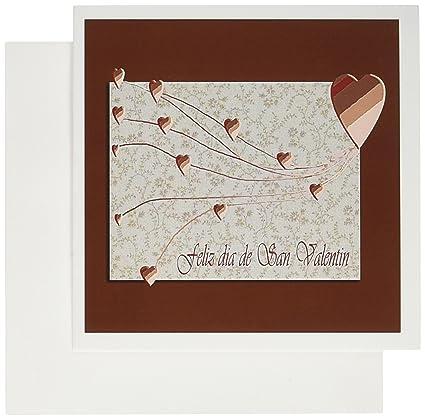 Amazoncom 3drose Feliz Dia De San Valentin Happy Valintines Day