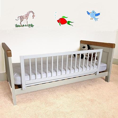 Safetots Rail de lit en bois, blanc