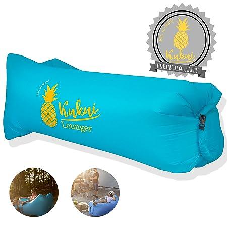 Kukui Air Lounger Maui Style Mit Angesagtem Ananas Print Und Tragetasche    Luftsofa Für Strand, Camping, Outdoor, Reisen (Ice Blue): Amazon.de: Sport  U0026 ...