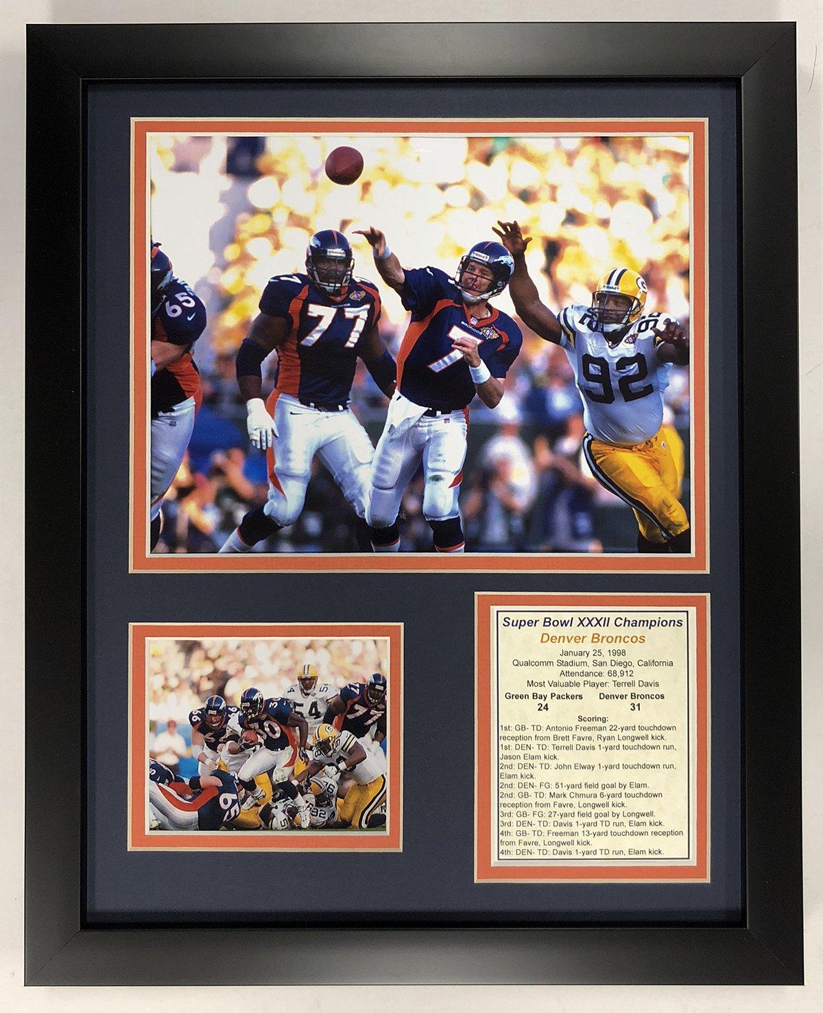 Legends Never Die NFL 1997 Denver Broncos Super Bowl XXXII Champions Framed Double Matted Photos, 12' x 15'