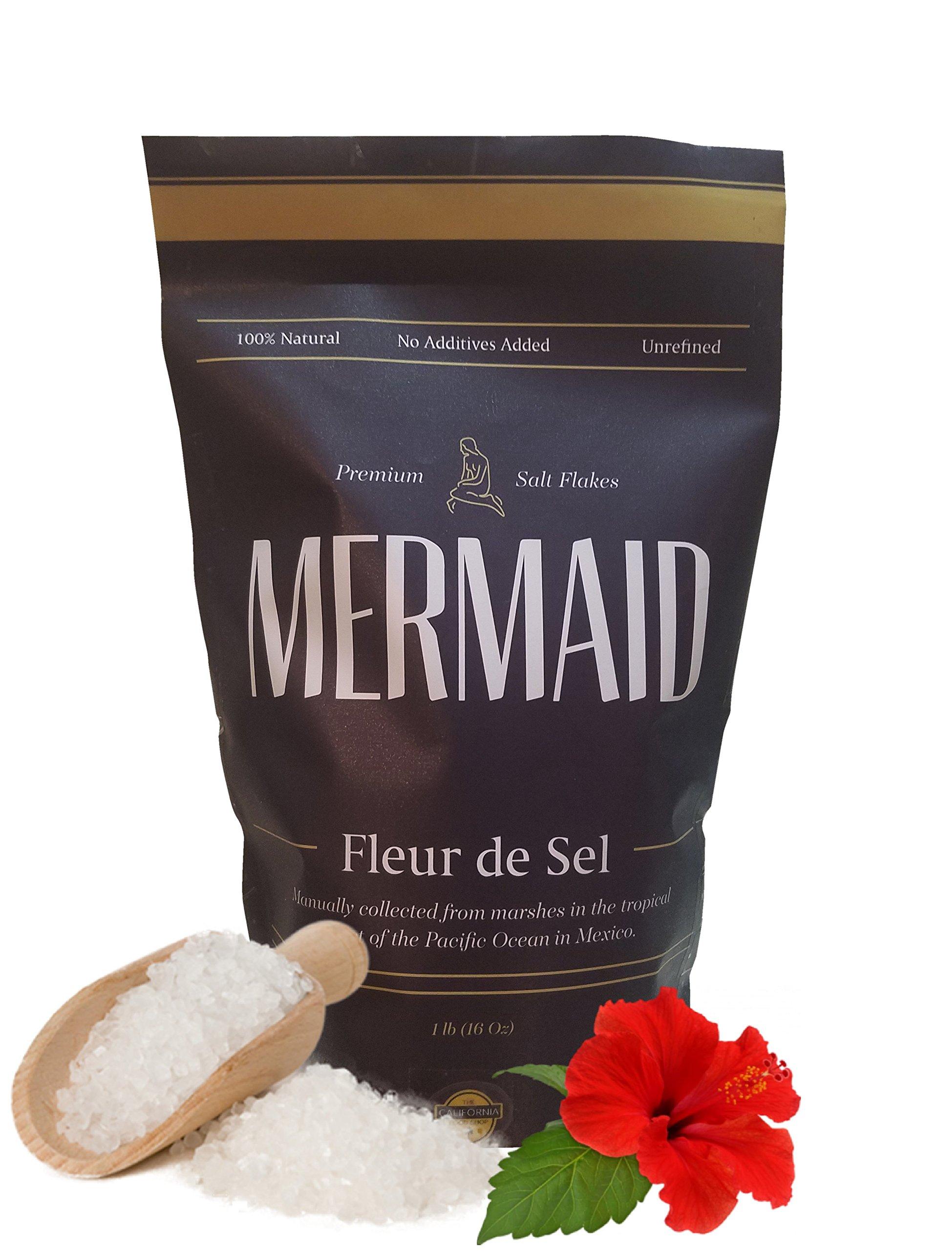 1 pound Mermaid Fleur de Sel – Pacific Ocean Salt Flower – Manually Collected In the Tropical Coast – Extra Flavorful – Unrefined Fleur de Sel – 100% Natural Sea Salt – 1lb Fleur de Sel