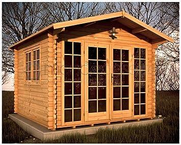 Mondocasette Casa Casa de Madera de jardín - Modelo Sicilia Grosor Paredes 28 mm 3 x 3 m, ripostiglio legnaia Box: Amazon.es: Jardín