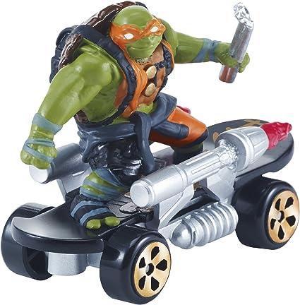 Teenage Mutant Ninja Turtles T-Machines Movie 2 Michelangelo on Rocketboard Diecast Vehicle