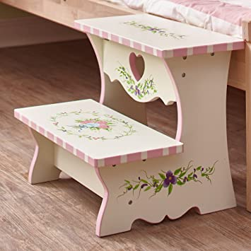 Sensational Fantasy Fields Bouquet Thematic Kids Wooden Step Stool Imagination Inspiring Hand Crafted Hand Painted Details Non Toxic Lead Free Water Based Machost Co Dining Chair Design Ideas Machostcouk