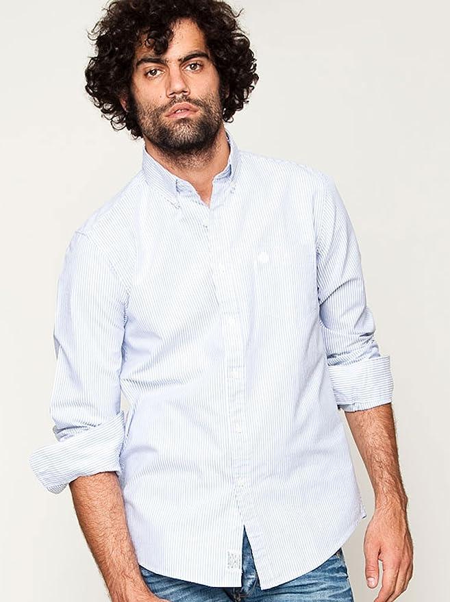 Springfield Camisa Celeste/Blanco M: Amazon.es: Ropa y accesorios