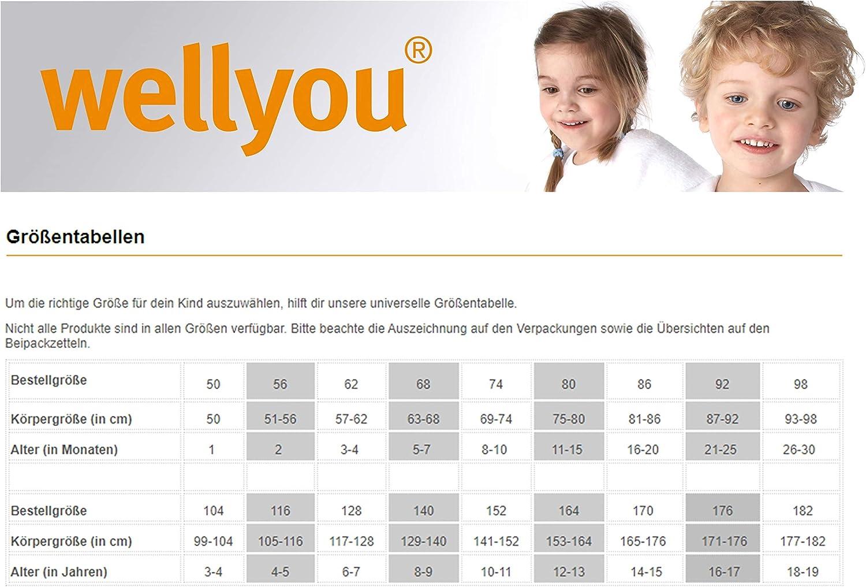 Wei/ß 104-110 wellyou Baby und Kinder langarmbody//babybody m/ädchen und junge aus 100/% Baumwolle langarm body 2er Set in wei/ß